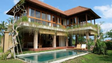 Beautiful rice field view villa in Ubud