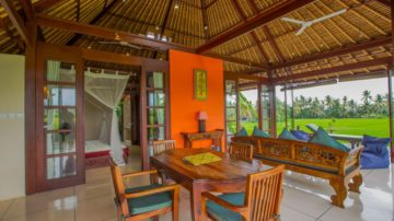 Beautiful 2 bedroom villa in Ubud with rice field view