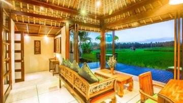 Luxury 1 bedroom with wonderful rice field views