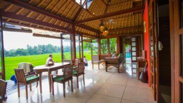 Beautiful 2 Bedroom overlooking an ocean of rice