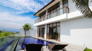 Modern 2 bedroom villa with rice field views