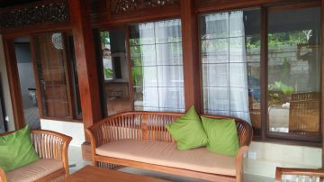 2BR house with rice fields view, walking distance to Ubud Center