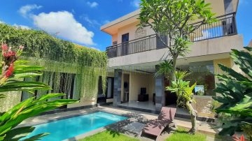 Comfortable 3 bedroom villa with rice field view