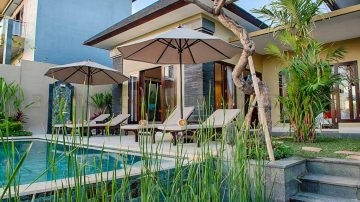 2 bedroom villa for yearly rental in north canggu
