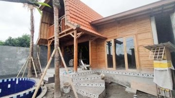 Under Construction 90% Completed 2 Bedroom Villa with Rice Field View in Pererenan