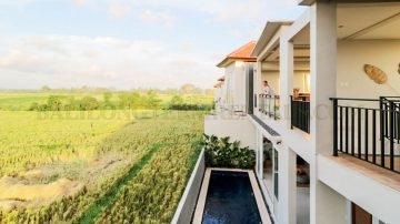 2 Bedroom Villa for Yearly Rental in Cemagi with Rice field and Ocean Views